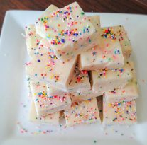No Bake Cake Batter White Chocolate Fudge
