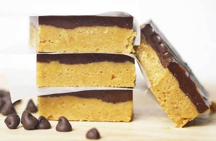 No Bake Peanut Butter Squares