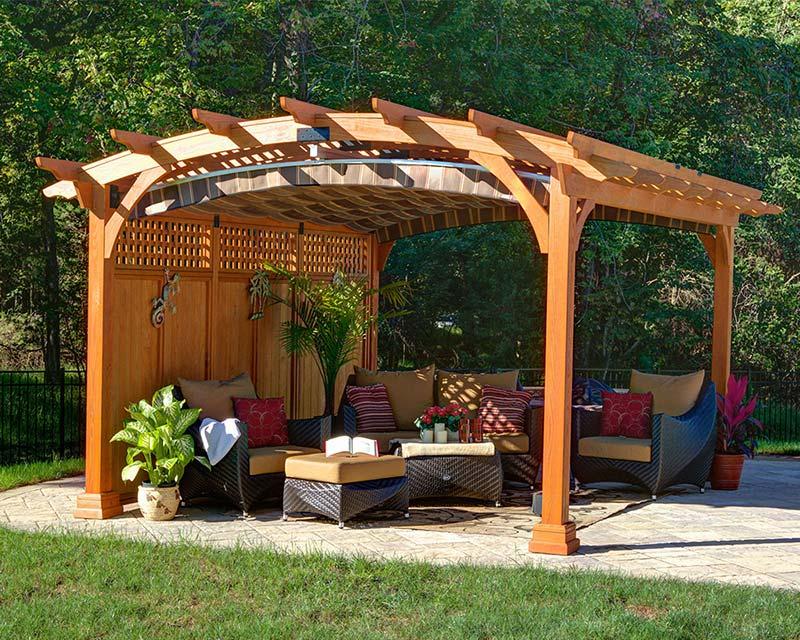 Quiet Corner Outdoor Pergolas Home Design Ideas Quiet Corner