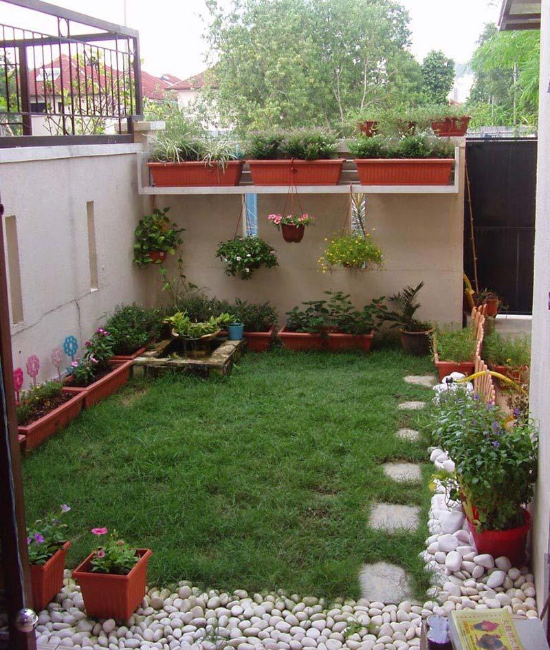 Quiet Corner:Small Backyard Ideas Enlarging Your Limited