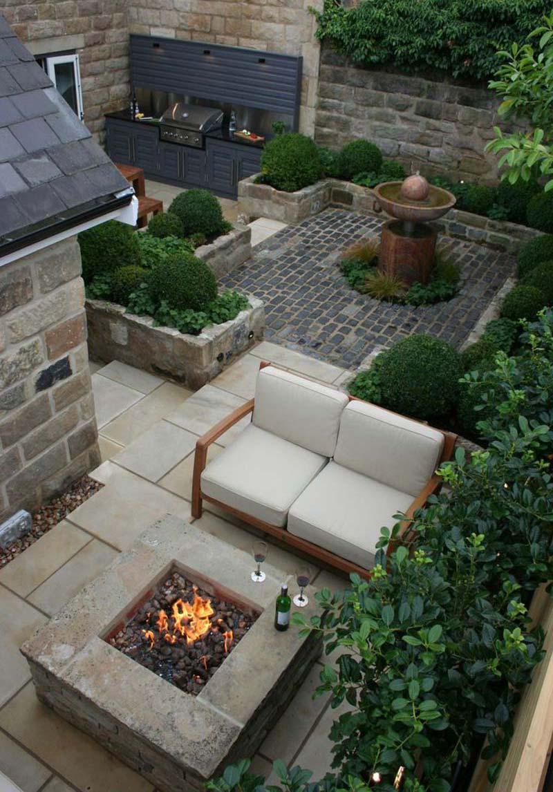 Quiet Corner:Small Backyard Relaxing Design - Quiet Corner on Small Patio Design Ideas id=74276
