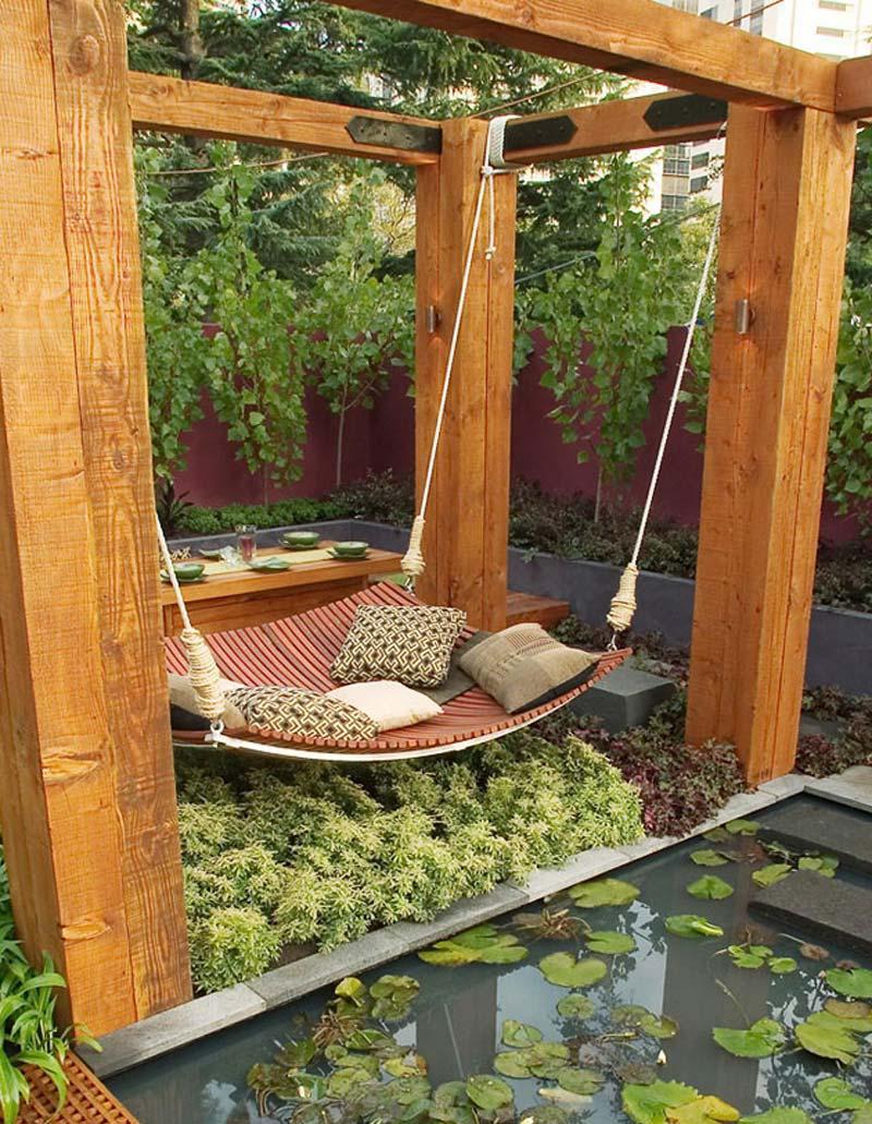 Quiet Corner:Small Backyard Relaxing Design - Quiet Corner