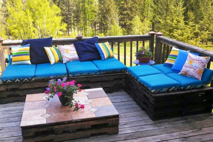 ... Wonderful Wood Pallet Outdoor Furniture Ideas - Quiet Corner:Wonderful Wood Pallet Outdoor Furniture Ideas - Quiet