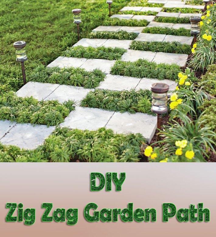 DIY – Zig Zag Garden Path