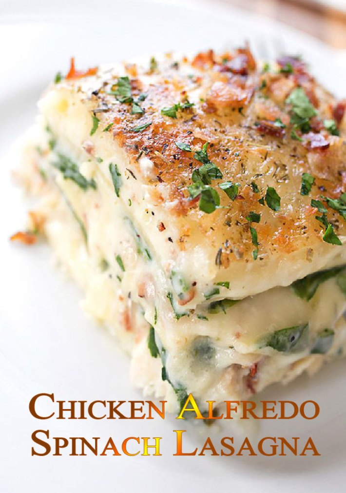 quiet corner chicken alfredo spinach lasagna recipe