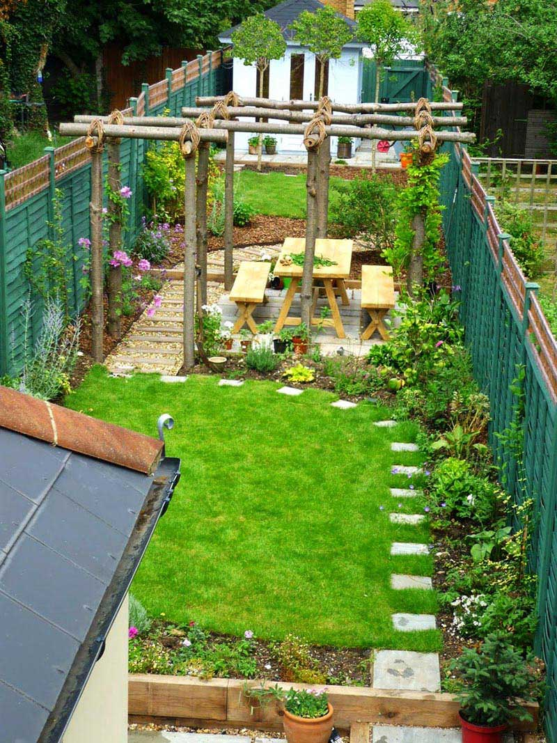 Sloping Garden Design Ideas - Quiet Corner on Small Sloped Backyard Ideas On A Budget  id=71015