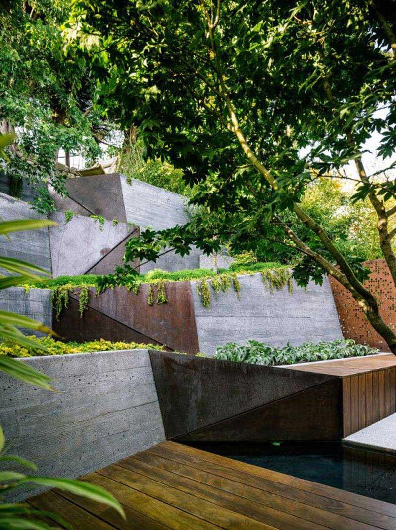 Sloping Garden Design Ideas - Quiet Corner on Garden Ideas For Sloping Gardens id=48477