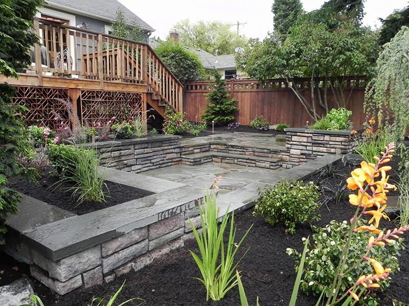 Sloping Garden Design Ideas - Quiet Corner on Garden Ideas For Sloping Gardens id=71830