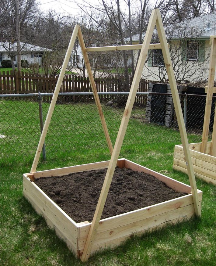 A-Frame Structures in the Vegetable Garden