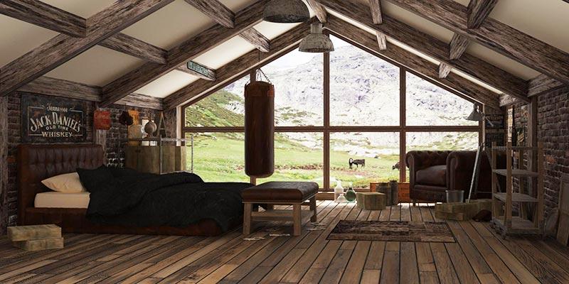 quiet corner attic space interior design ideas quiet corner. Black Bedroom Furniture Sets. Home Design Ideas