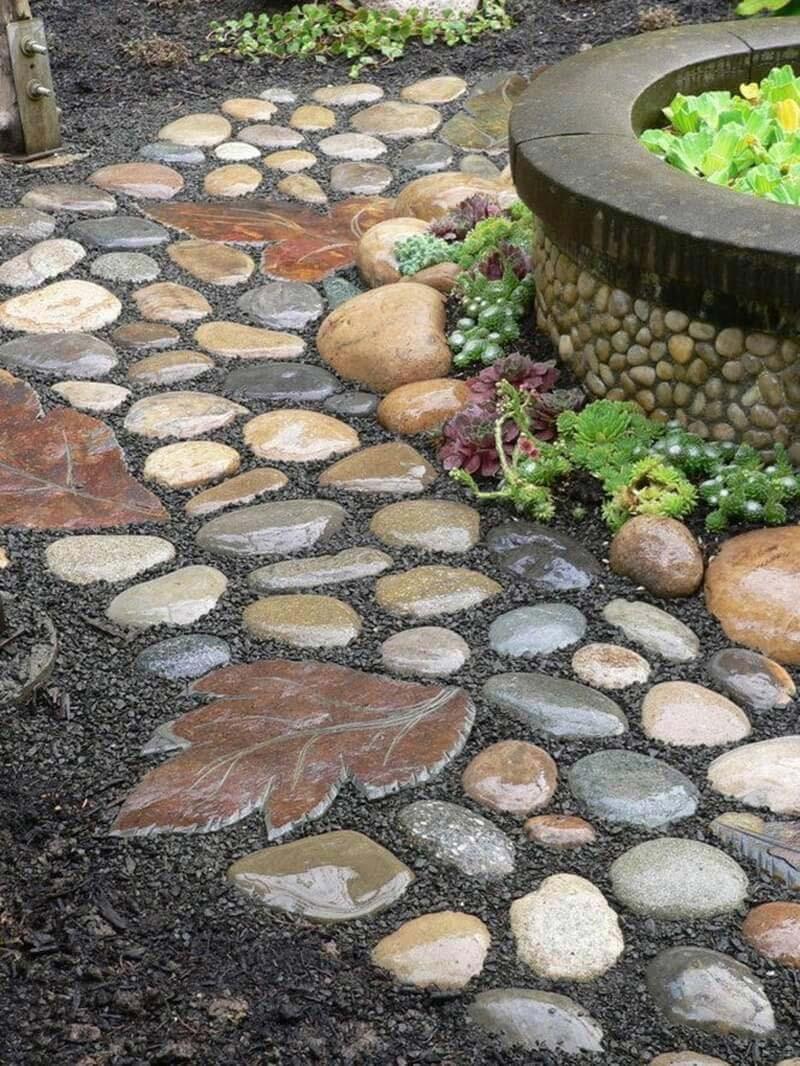 Quiet Corner Beautiful Garden Paths Made Of Natural Stone