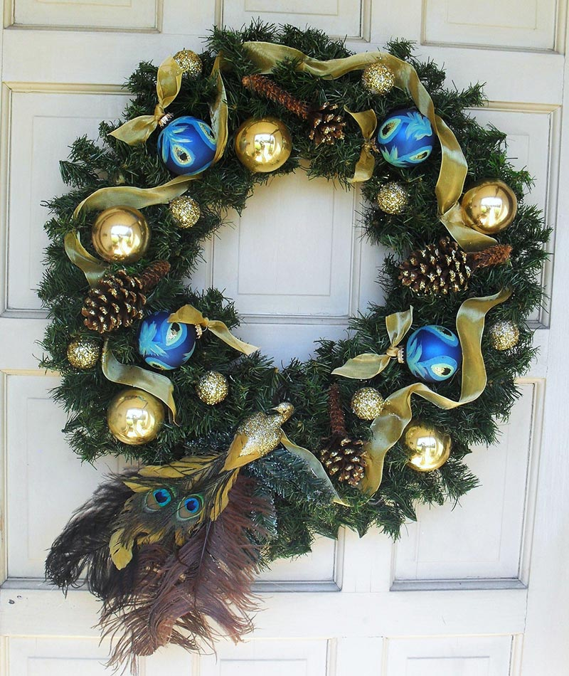Quiet Corner:Christmas Front Door Decorations
