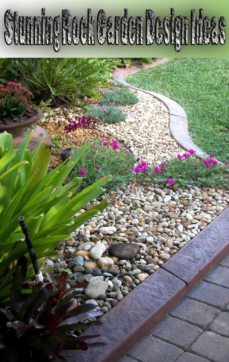 Stunning Rock Garden Design Ideas - Quiet Corner on Backyard Rock Designs id=88220