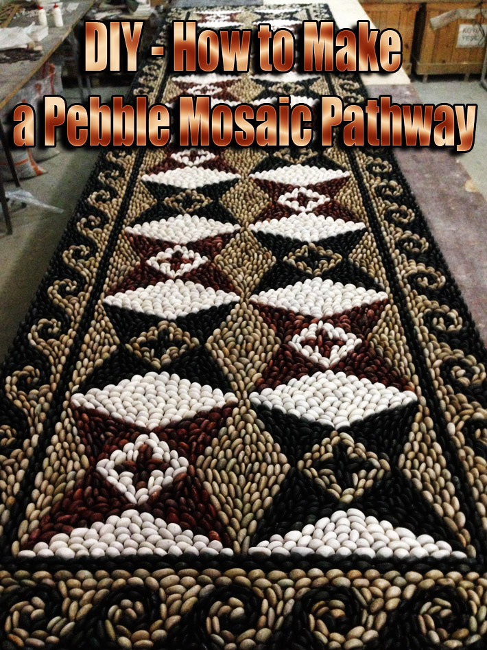 DIY - How to Make a Pebble Mosaic Pathway - Quiet Corner