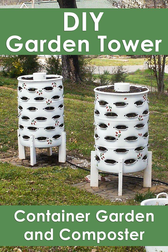 DIY Garden Tower – Container Garden and Composter