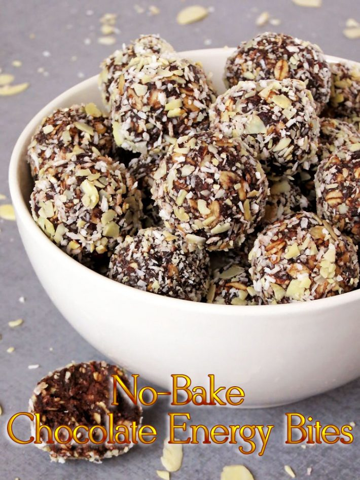 Healthy No-Bake Chocolate Energy Bites