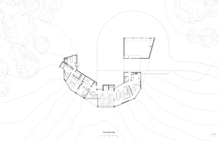 Berkshire Mountain House in Massachusetts Inspired by Fibonacci Spiral