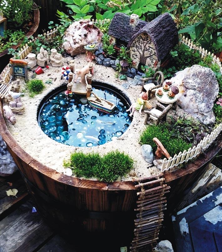 Quiet Corner Container Gardening Ideas: Quiet Corner:Fairy Garden In Container