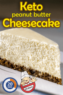 No Bake Keto Peanut Butter Cheesecake