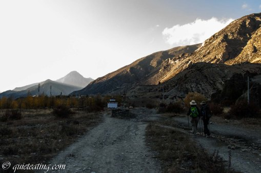 Almost arriving at Manang