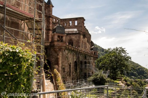 Heidelberg castle from up close