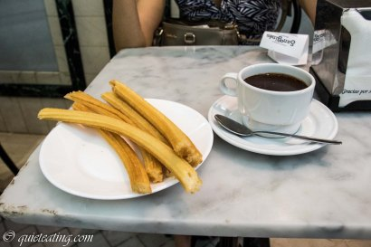 San gines for churros with hot chocolate