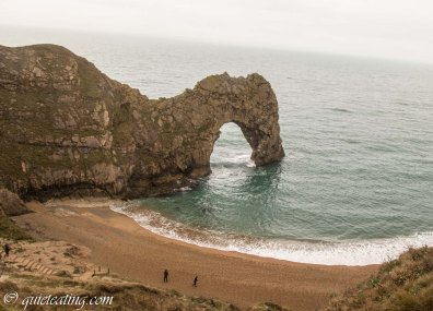 The famous Durdle door. Slightly anti-climatic to see in person.