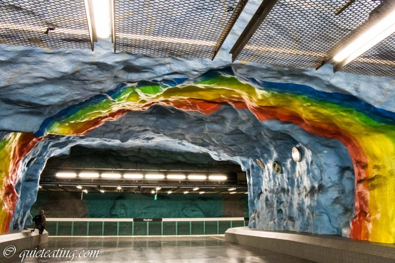 An interesting sight we saw was a public art exhibition. This, is the Stockholm metro.
