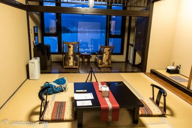 From a large tatami room. Then we were off to dinner in the restaurant 10 metres away