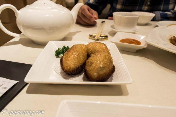 Ham siu gok - deep fried mince meat dumpling