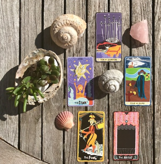 Feelings as paths to artistry - New Moon in Cancer tarot