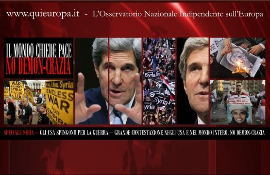 Usa - Siria - Contestazioni - Pace
