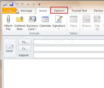 How to Configure Read Receipt for a Message in Outlook 2003-2010 |