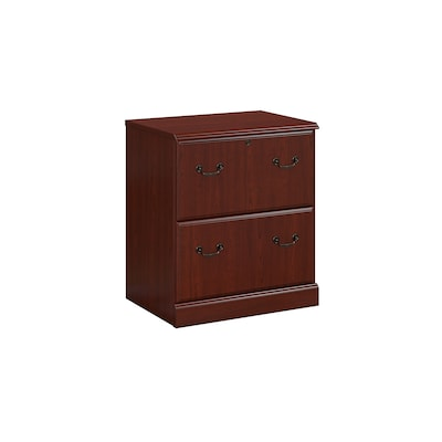 Kathy Ireland Home By Bush Furniture Bennington 2 Drawer Lateral File Cabinet Harvest Cherry Wc65 Quill Com