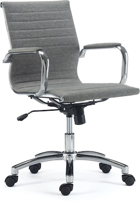 beautyrest platinum bonded leather computer and desk chair gray 49404