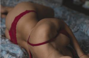 half naked girl resting