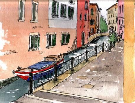 In Venice, $195 (framed)