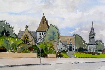 Church, Waimate $195 (framed)