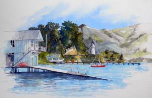 Lighthouse and Yacht Club, Akaroa SOLD