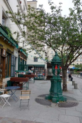 Water Fountain outside Shakespeare and Co, Paris