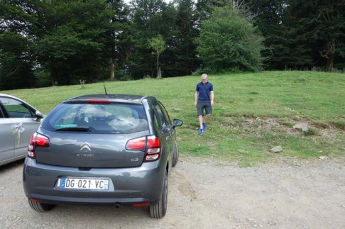 Our car in the Pyrenees