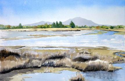 Mt Grey from the Ashley Estuary, Sold
