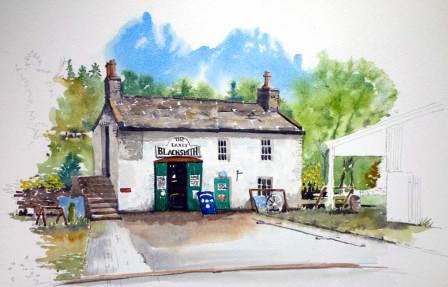 The Laxey blacksmith Shop,