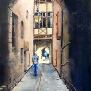 Back Alley, Monflanquin, Lot Valley, France, sold