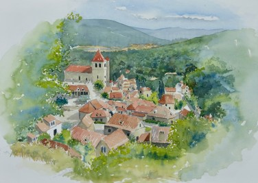 Saint-Cirq-Lapopie, Lot Valley, France, SOLD