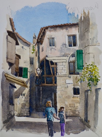 Old Town, Croatia, SOLD, framed