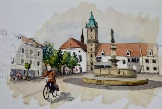 In Bratislave, Slovakia, $395, (framed)