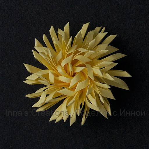 paper quilling double fringed flower tutorial