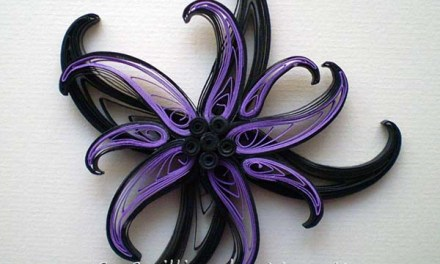 Paper Quilled Floral Magnet Tutorial