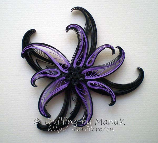 paper quilled flower magnet tutorial
